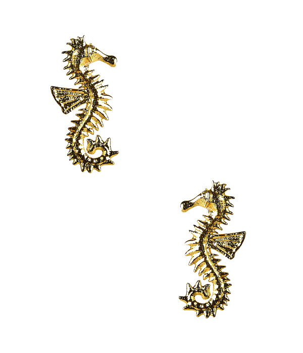 Seahorse Stud - Gold