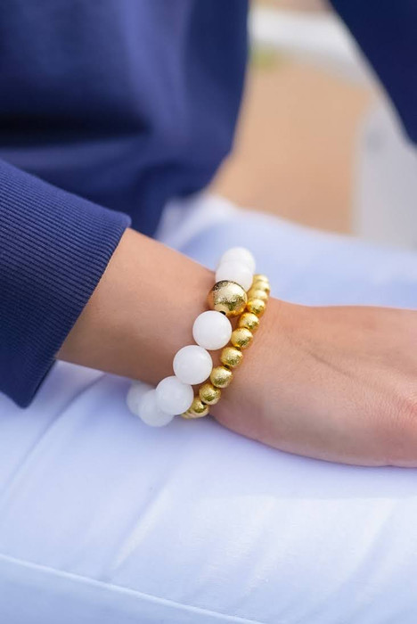 Georgia Beaded Bracelet - Quartz