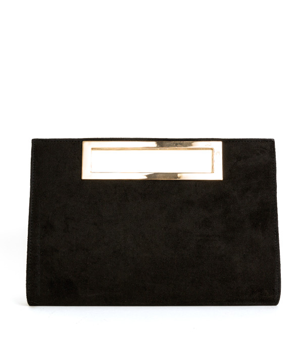 Chloe Suede Clutch - Black