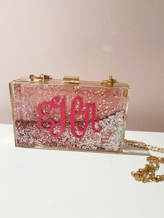 Pink Sparkle Bag -As Is- Sample Final Sale