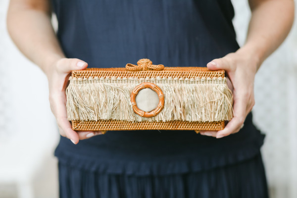 Colette - Raffia Layer with Bamboo Buckle