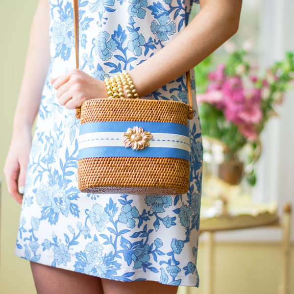 Charlotte Small - Blue Ticking - Daisy