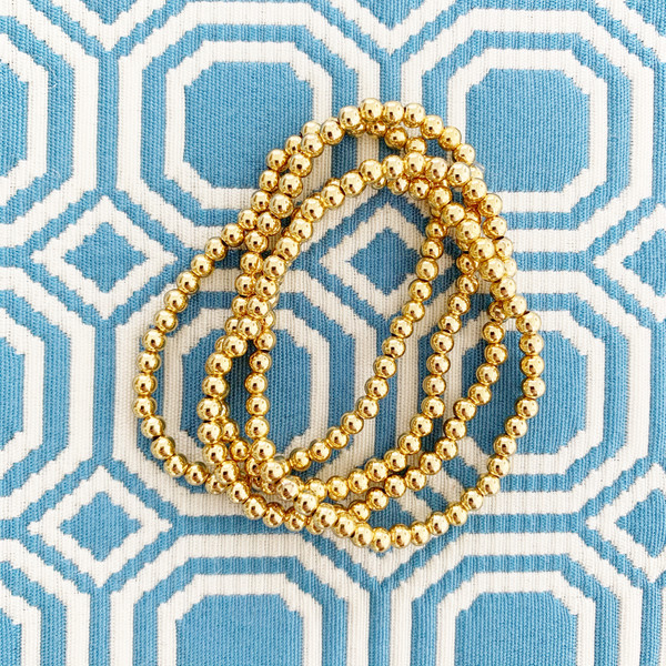 Georgia - Mini Gold Beaded Bracelet 4mm