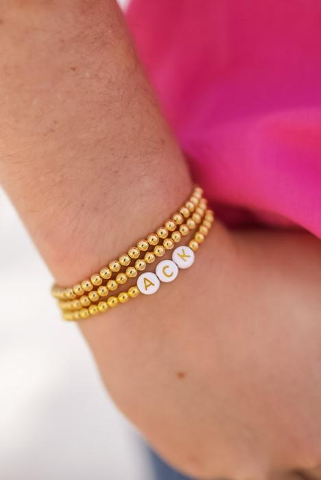 Georgia - Mini Gold Beaded Bracelet 4mm