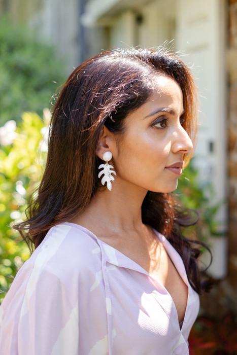 Palm Leaf- Acrylic Earrings