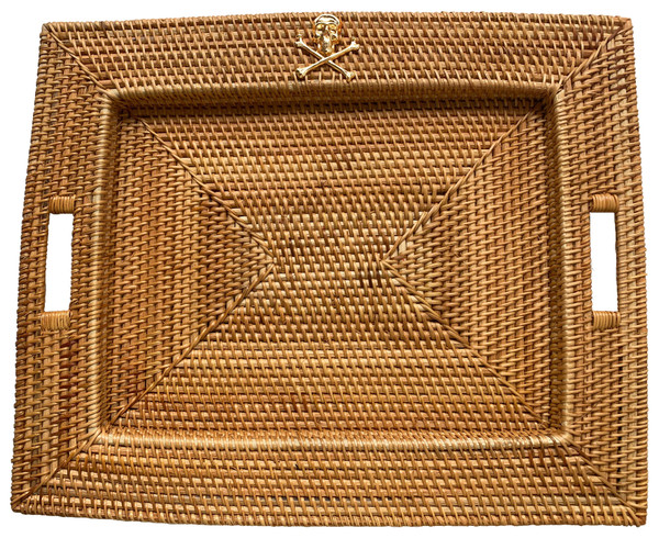 Handwoven Tray - Gold Charm