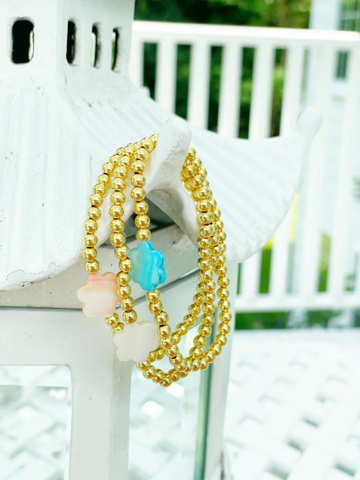Dani - Gold Beaded Bracelet 4mm