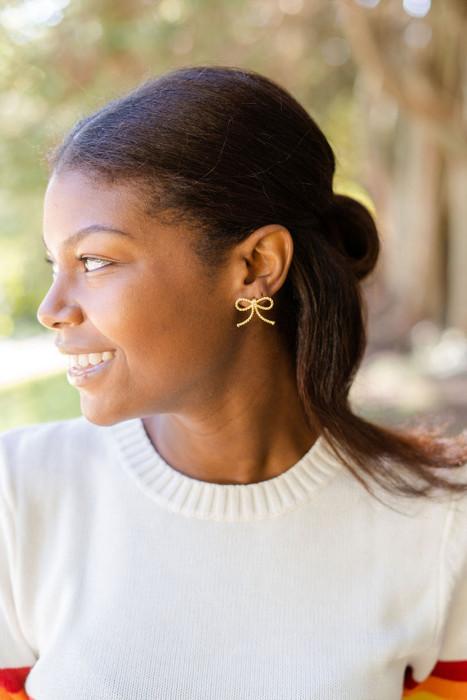 Roped Bow - Earrings