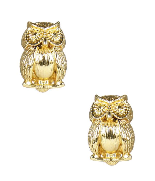 Owls - Large - Gold