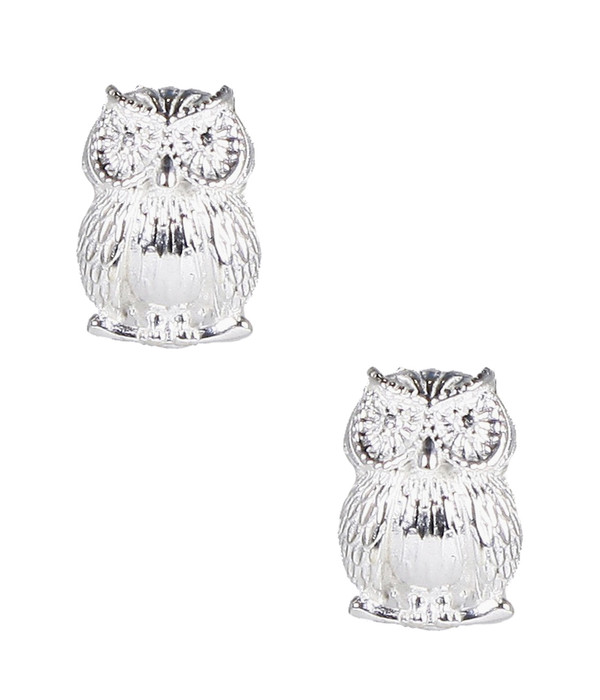 Owls - Large - Silver