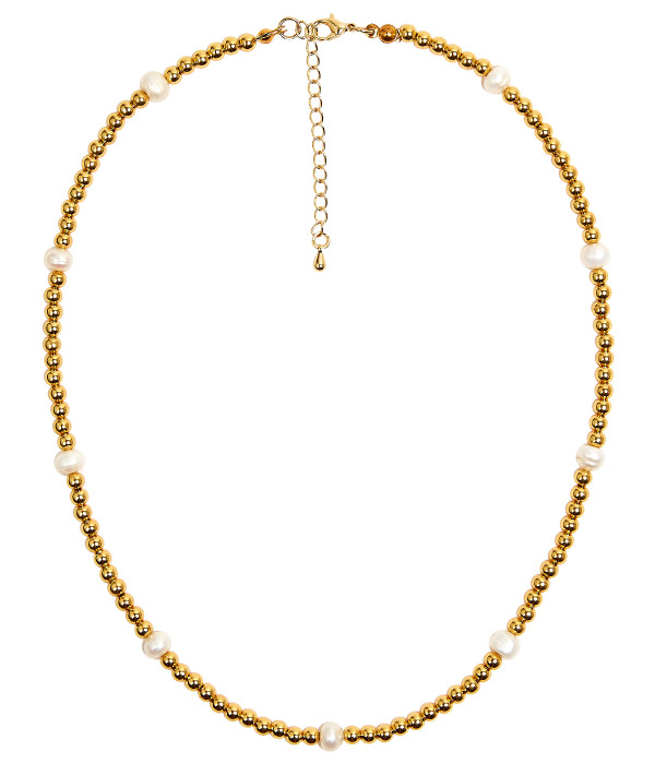 Carol  - Pearl and Gold Necklace