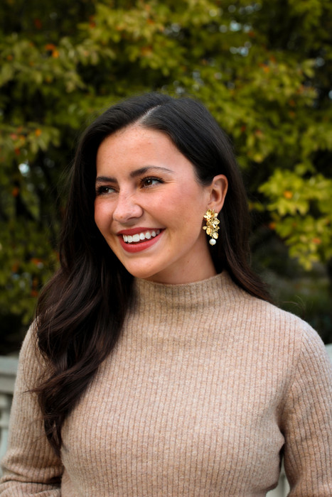 Limelight - Statement hydrangea earrings Pre Order