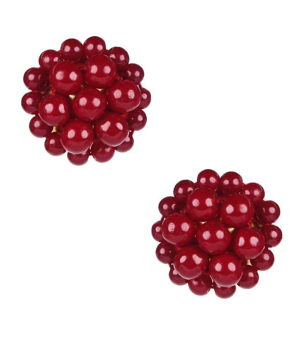 Button - Burgundy SAMPLE FINAL SALE