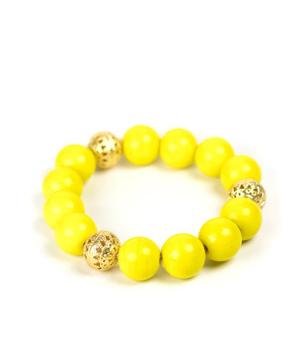 Beaded Bracelet - Yellow
