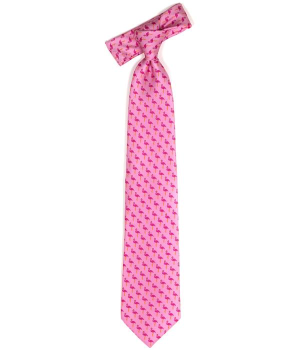 Tie - Pink Flamingo
