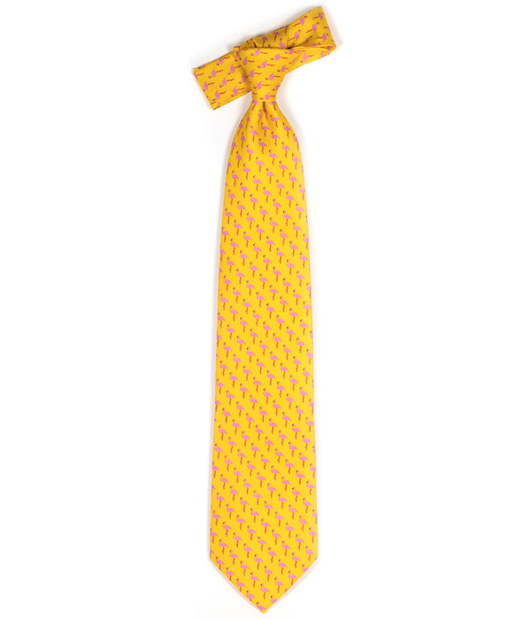 Tie - Orange Flamingo