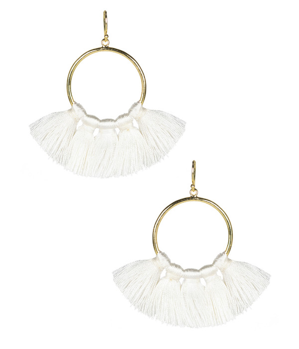 Izzy Gameday Earrings - White