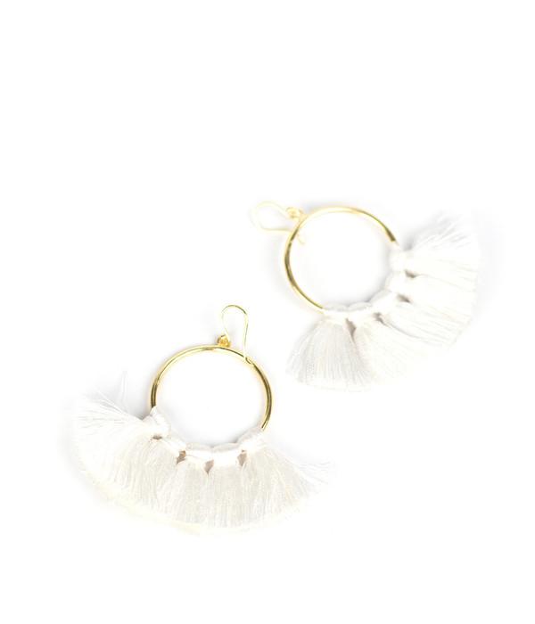 Izzy Gameday Earrings - White
