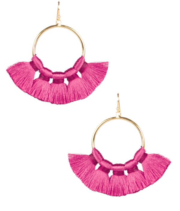 Izzy Gameday Earrings - Miss Pink