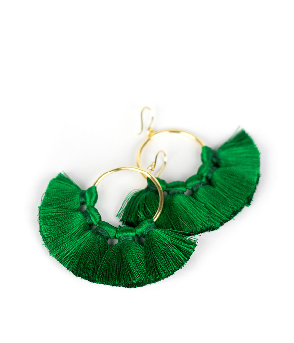 Izzy Gameday Earrings - Emerald
