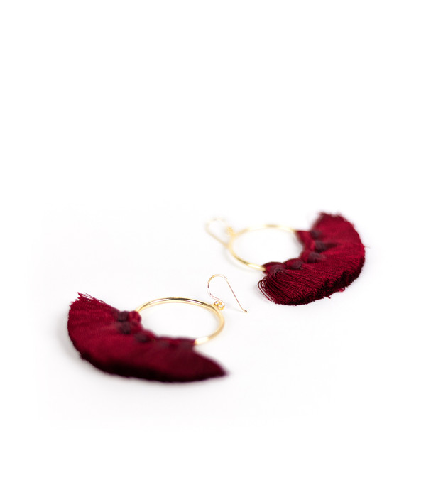 Izzy Gameday Earrings - Burgundy
