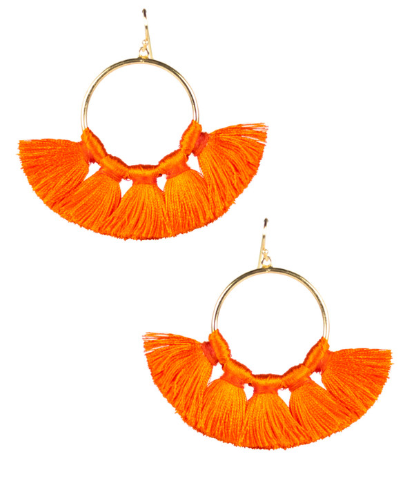 Izzy Gameday Earrings - Orange