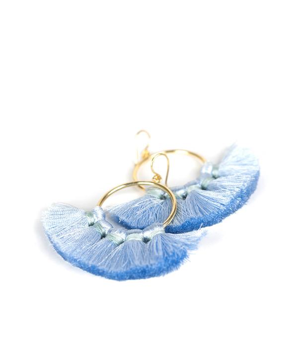 Izzy Gameday Earrings - Carolina Blue