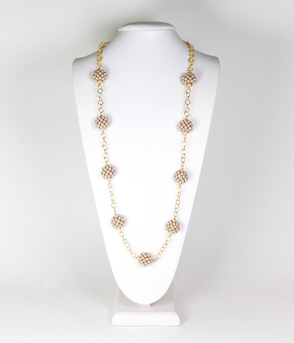 Kelly Necklace- Latte SAMPLE FINAL SALE