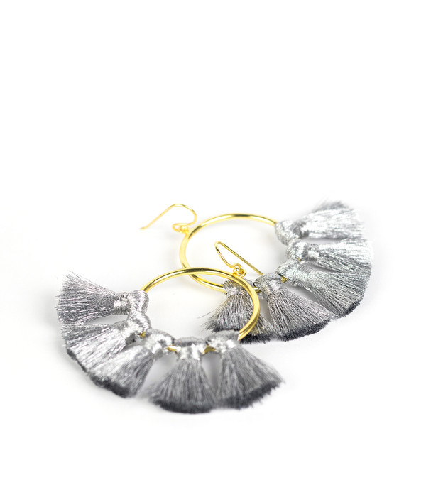 Izzy Gameday Earrings - Silver