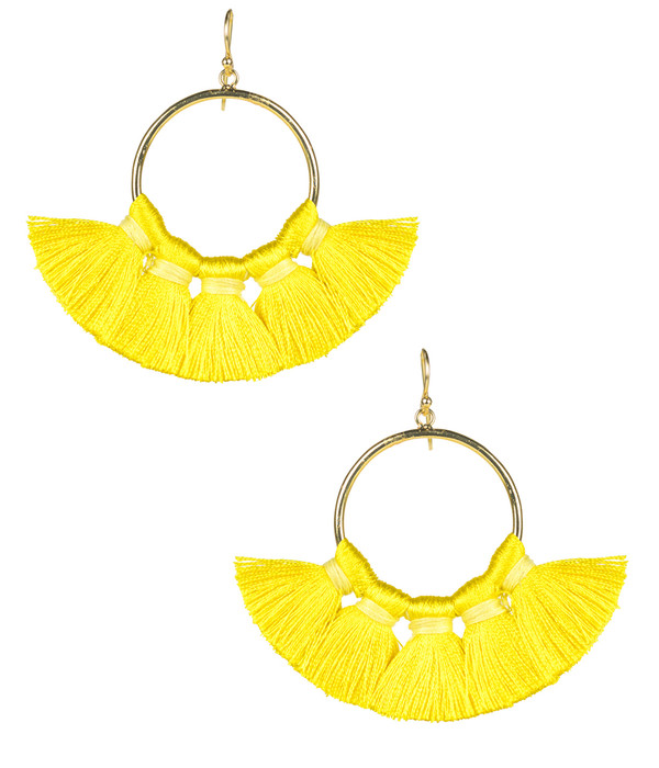 Izzy Gameday Earrings -  Yellow (FINAL SALE)