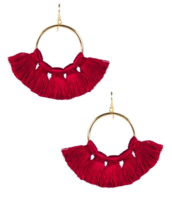 Izzy Gameday Earrings - Red