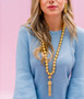 Beaded Tassel Necklace - Gold