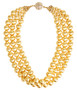 Diana Gold Triple Strand Beaded Necklace -PreOrder