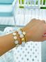 Carolina - Gold Beaded Bracelet 4mm