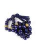 Beaded Tassel Necklace - Navy