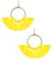 Izzy Gameday Earrings -  Yellow (FINAL SALE)