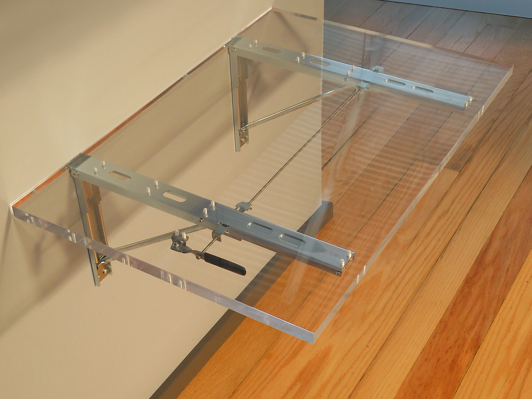 Acrylic Table with FDP19a Brackets Folded Up
