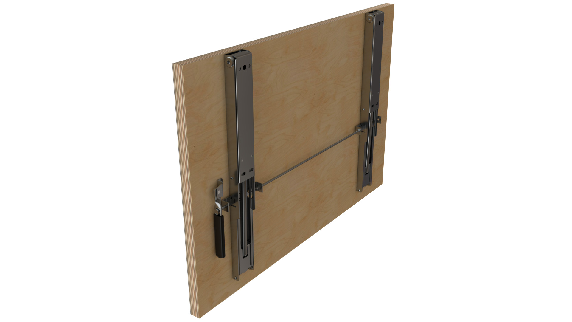 Wall Mounted Table Folding Brackets From Back