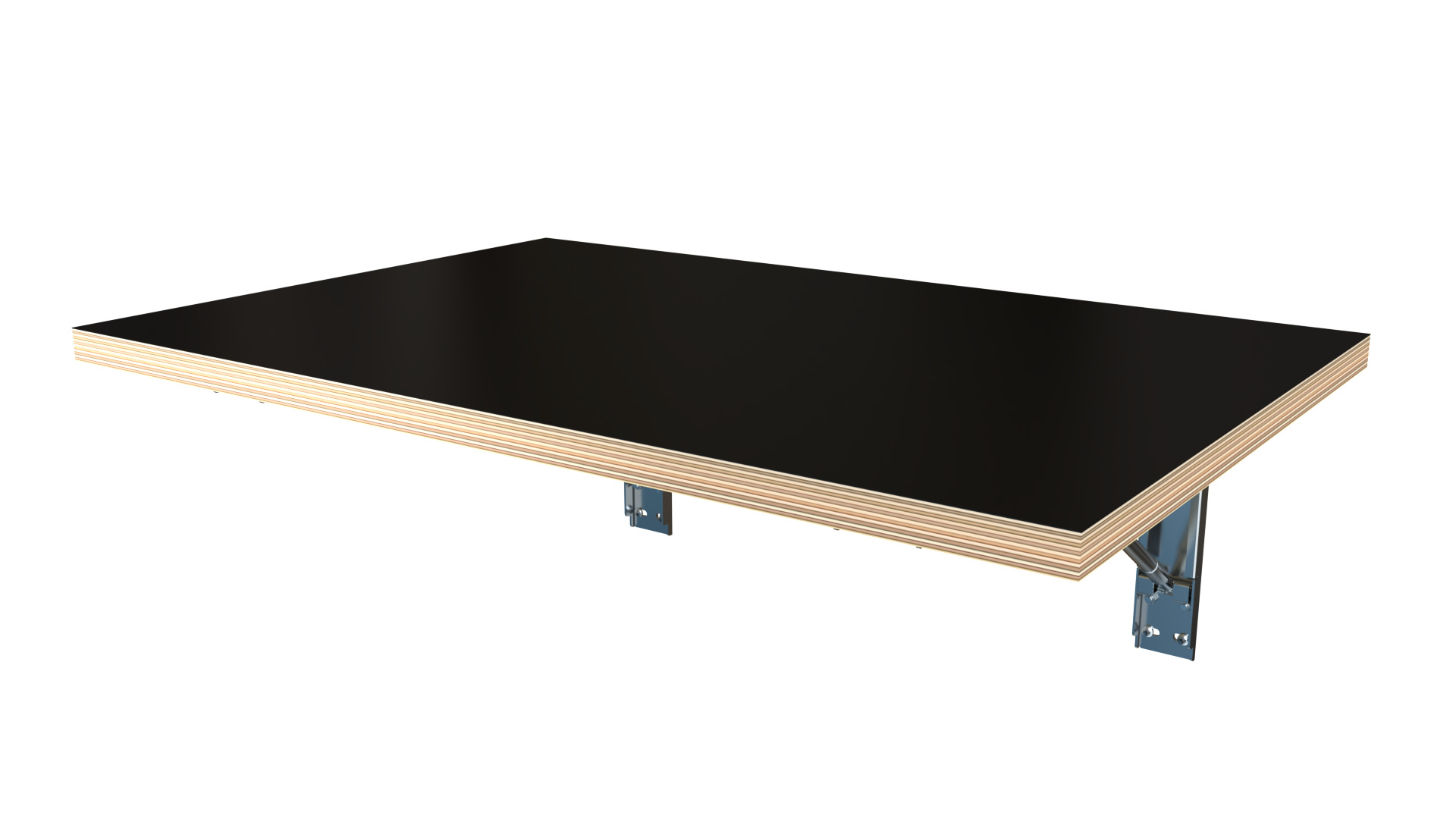 Black Wall Mounted Folding Table