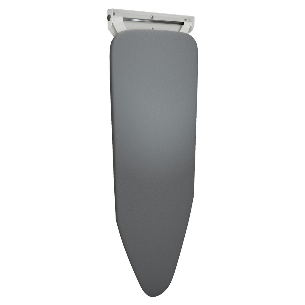 Wall Mounted Compact Ironing Board White Folded Down