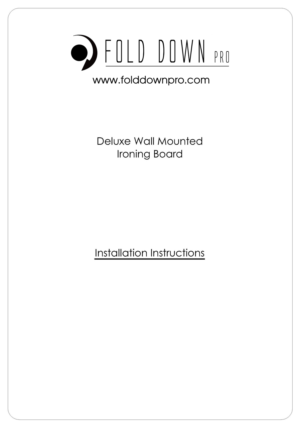 Deluxe Wall Mounted Ironing Board Instructions Page 0