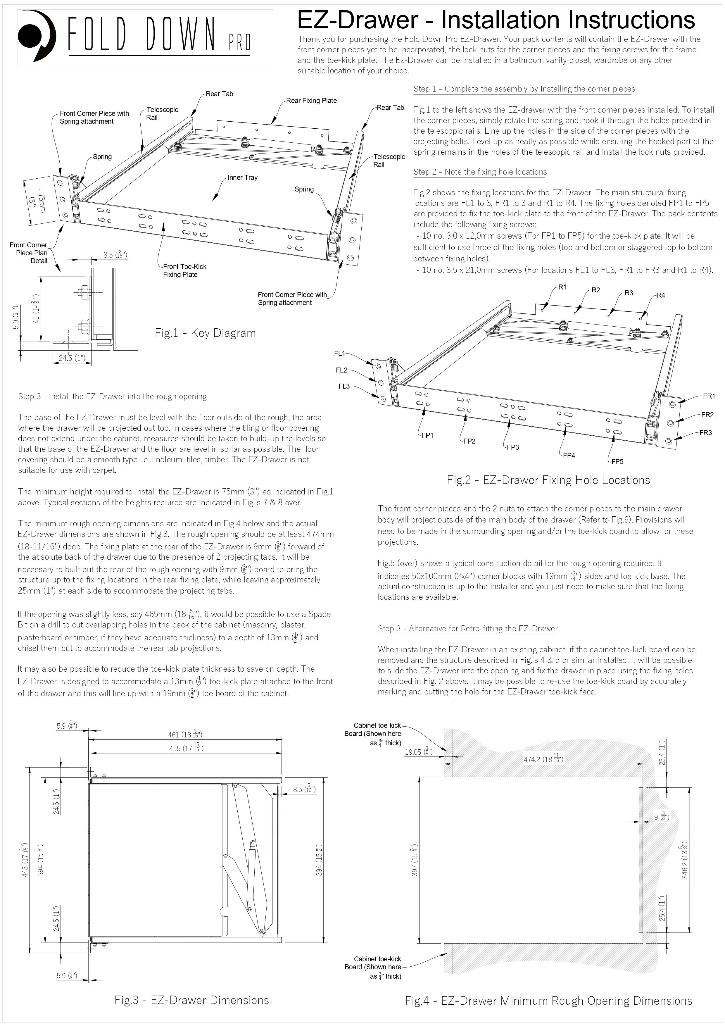 EZ-Drawer Instructions Page 1
