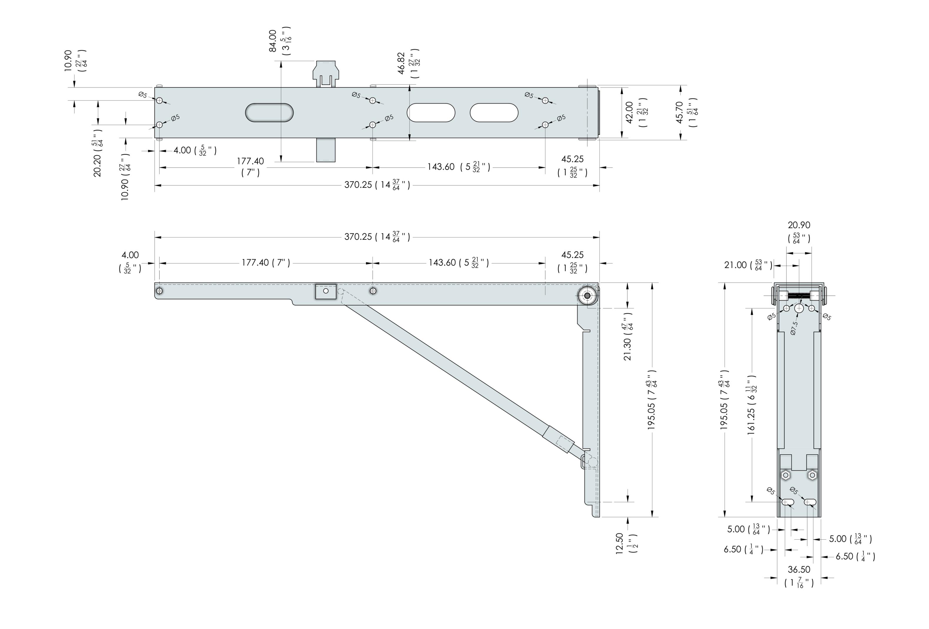 FDP 14.5a Folding Bracket