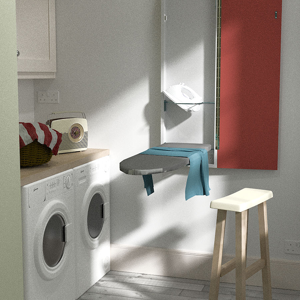Red Deluxe Ironing Board