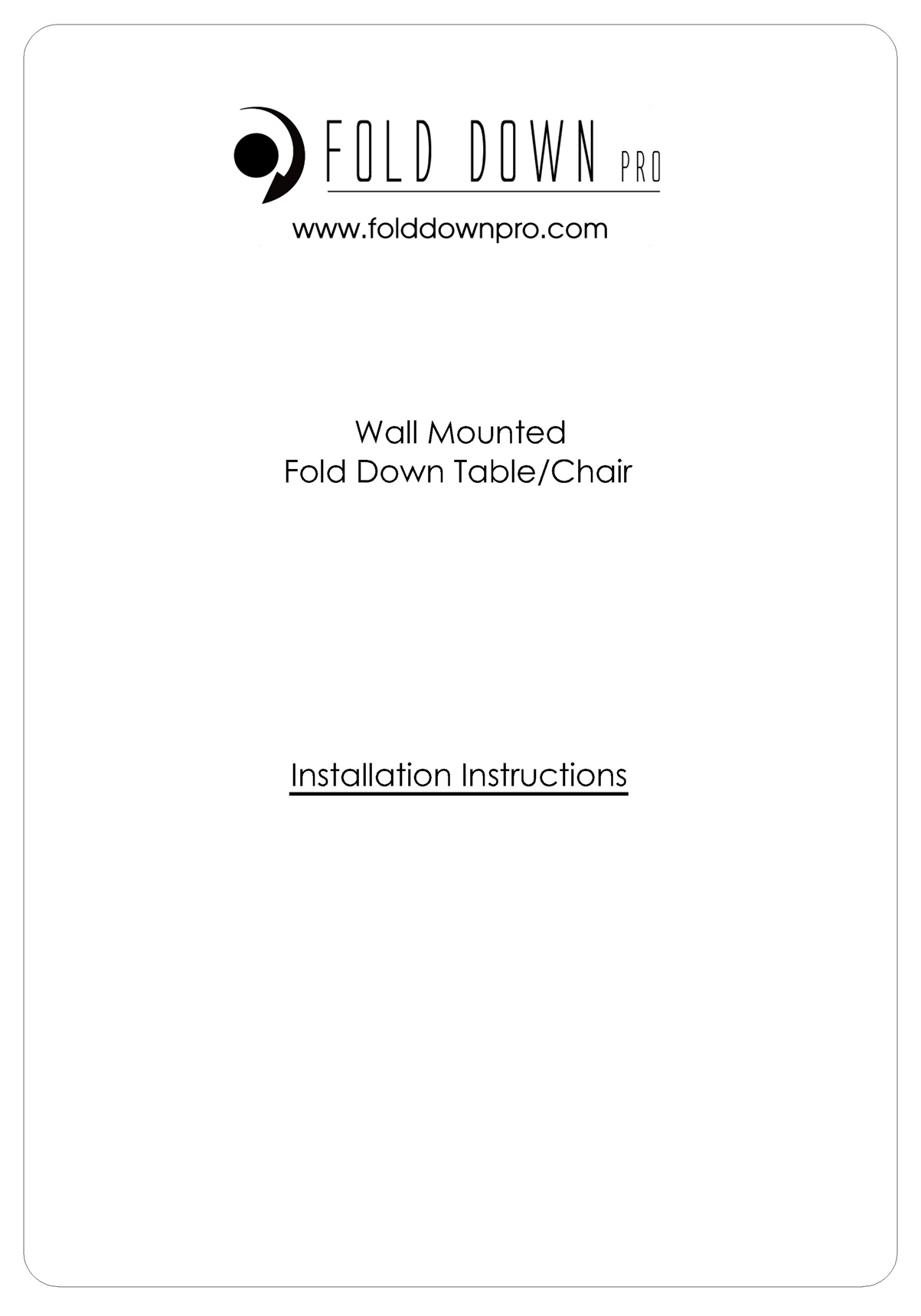 Wall Mounted Fold Down Table Chair Instructions Page 0
