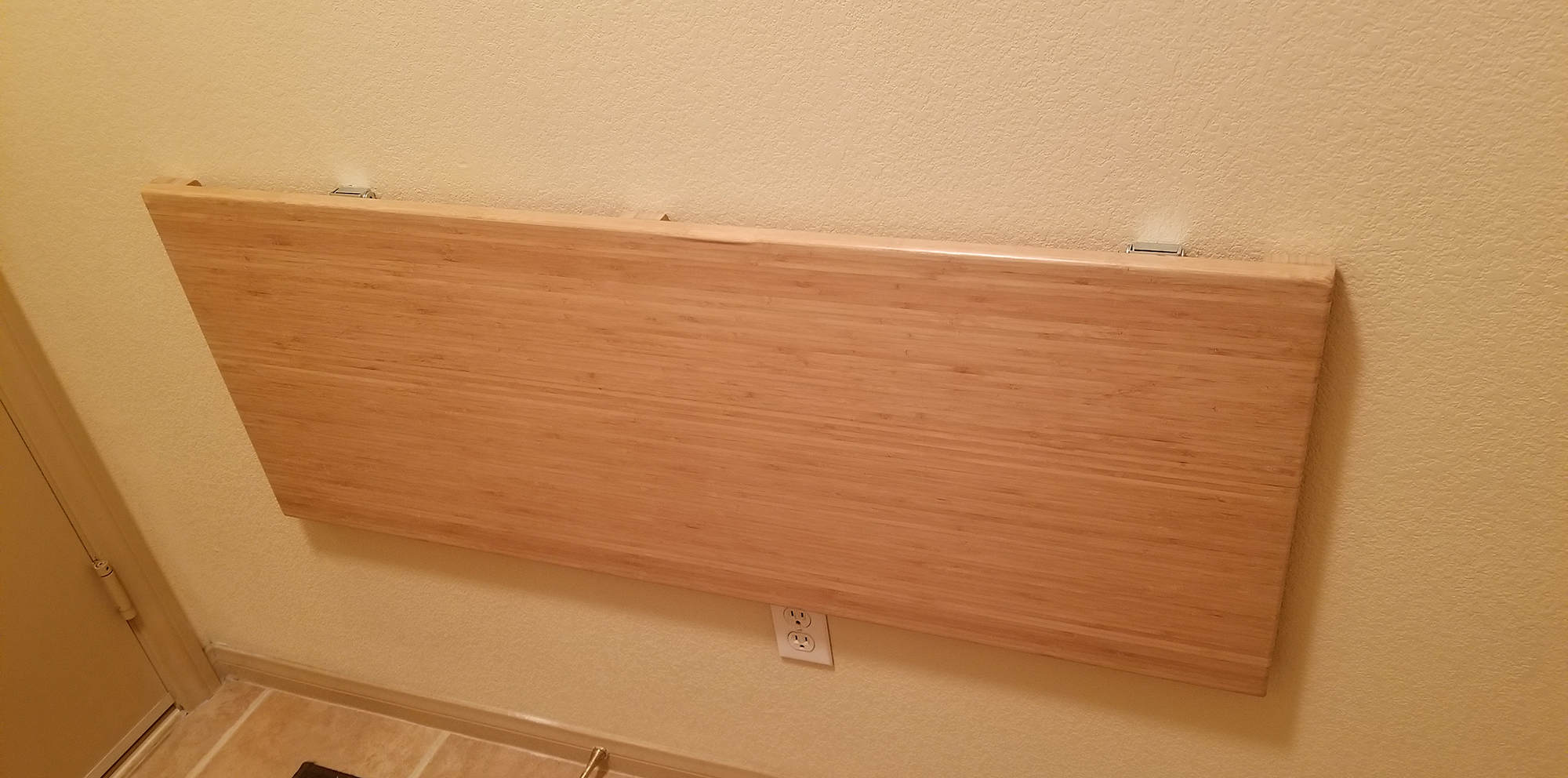 Wall Mounted Bench Folded Down