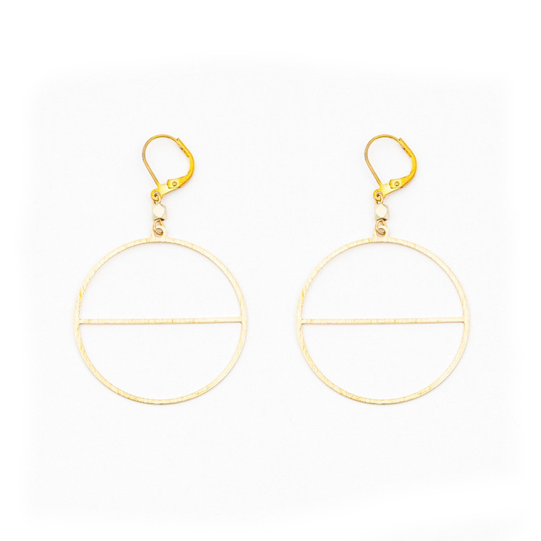 ALTIPLANO CIRCLE HORIZON EARRING