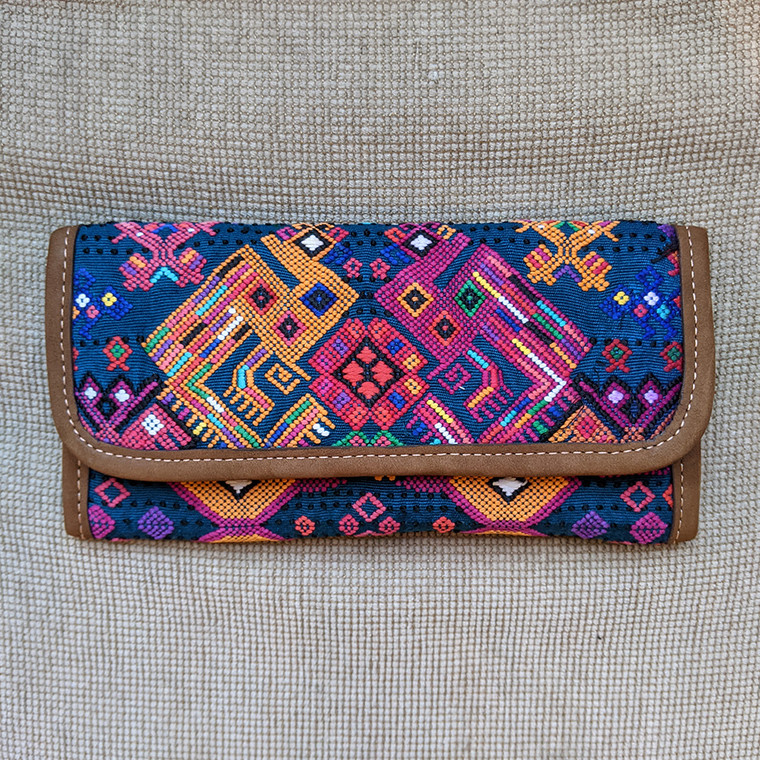 ALTIPLANO LEATHER HUIPILE WALLET