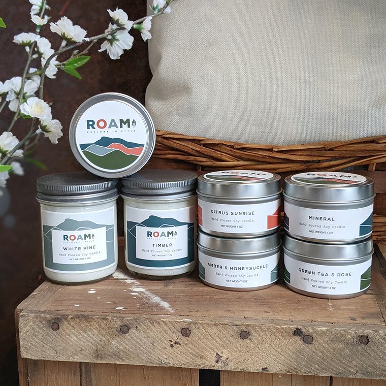 Roam Vermont 7oz Glass Jar Candle