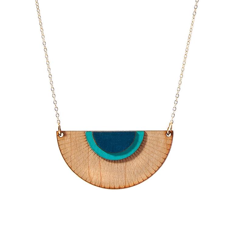 Treeline and Tide Blue Solaris Necklace